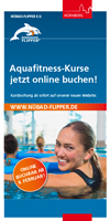 Infoflyer Aquafitness-Kurse